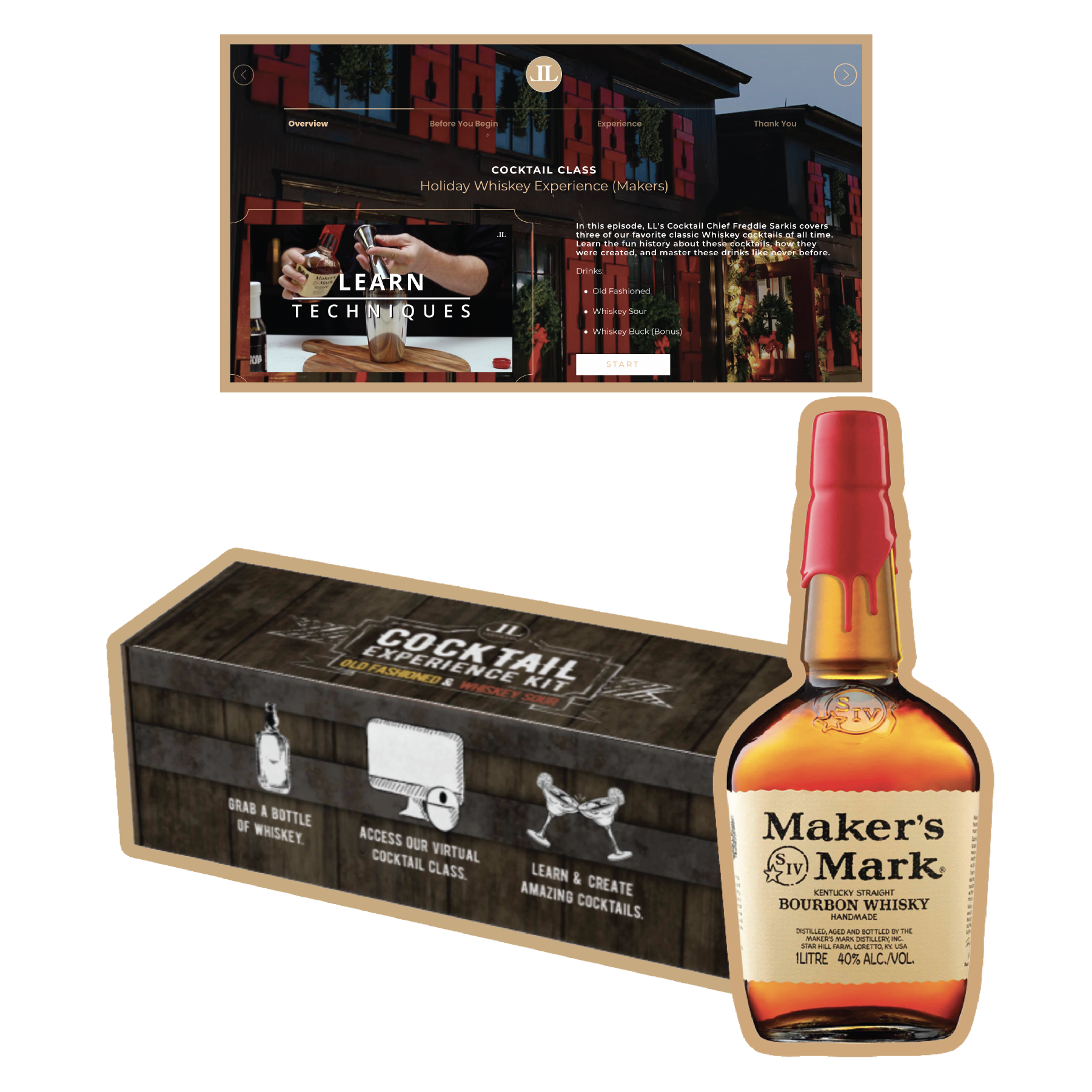 Whiskey Experience Kit (Makers 375ml)
