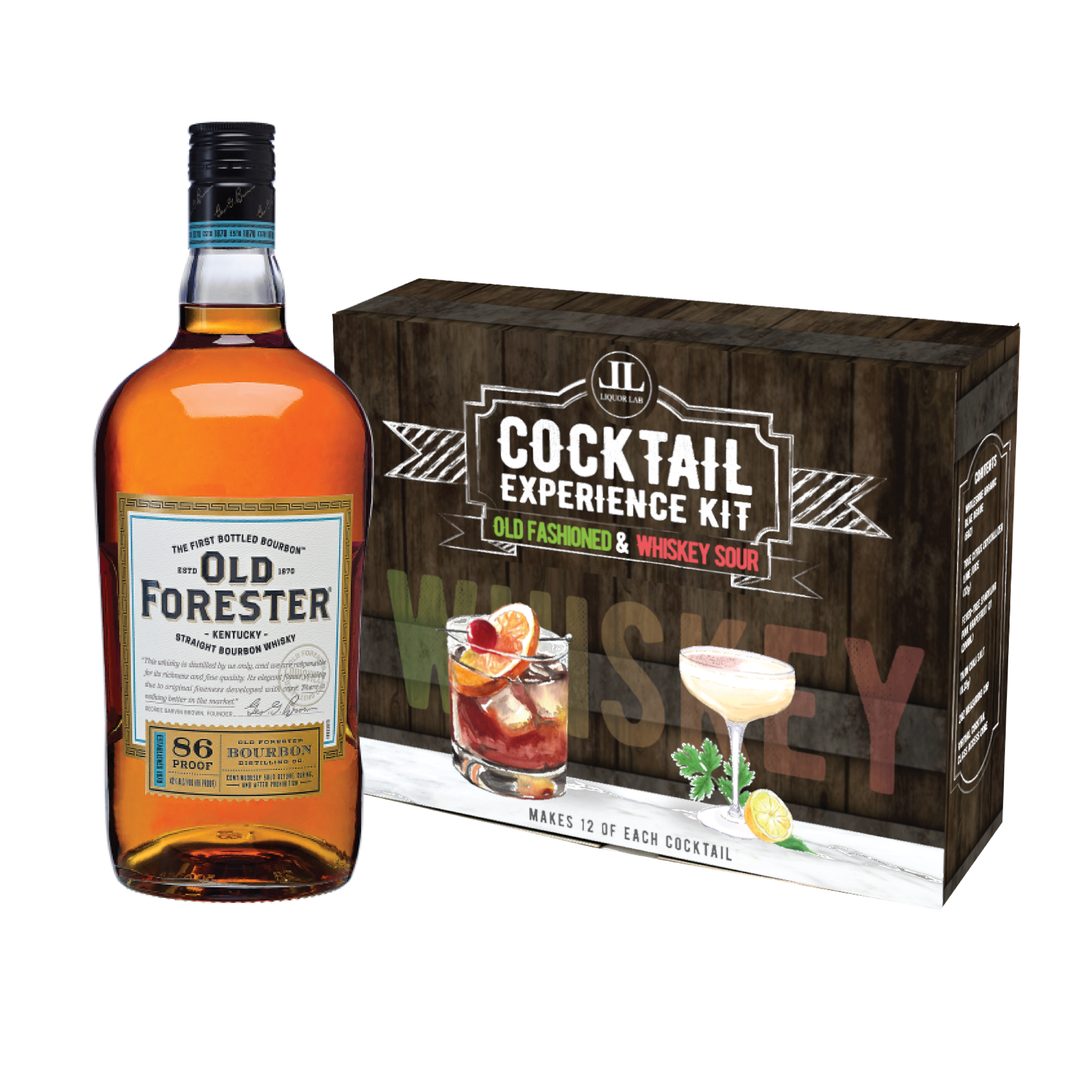 Whiskey Experience Kit + Old Forester (750ml)