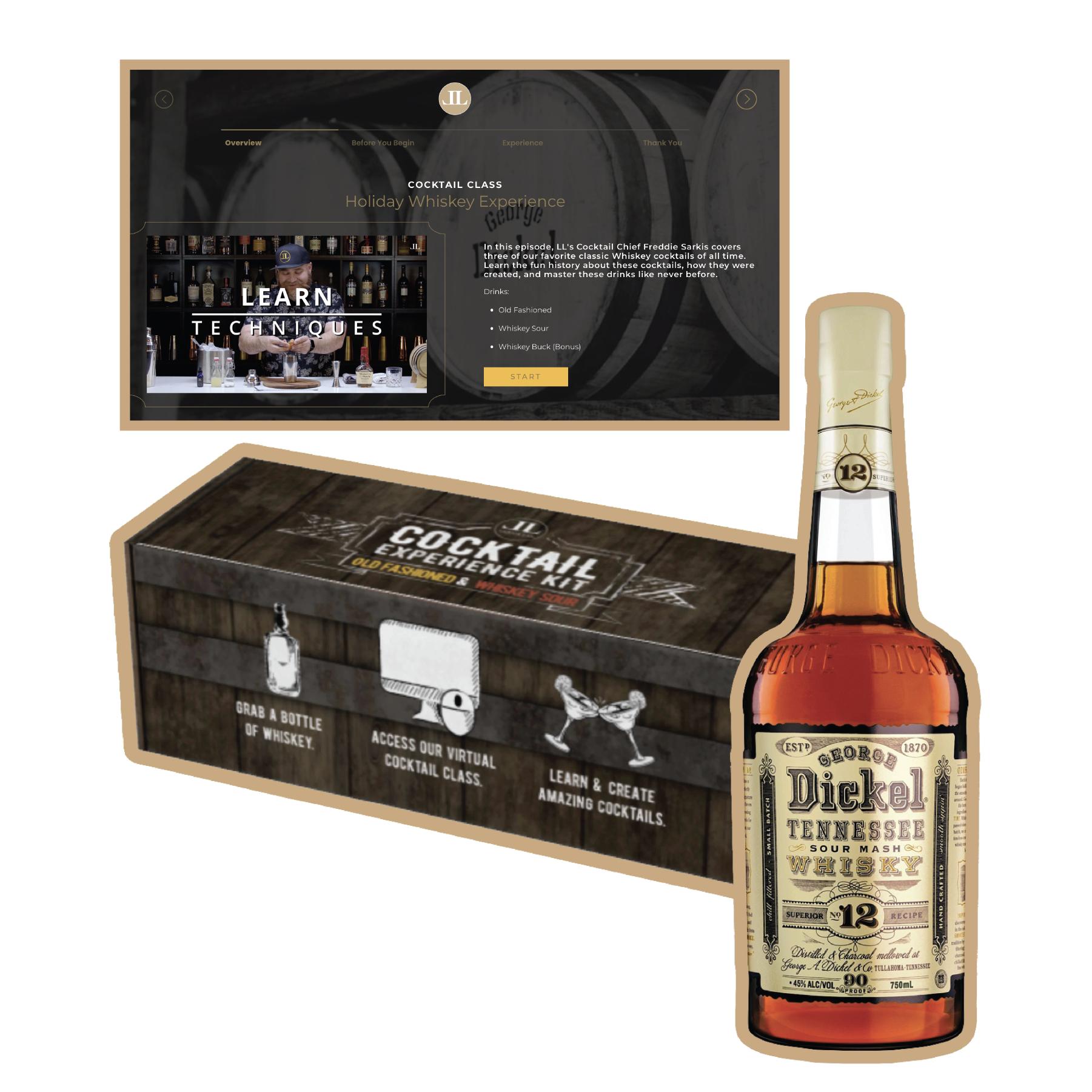 Whiskey Experience Kit (G. Dickel 750ml)
